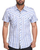 Men - Hampton Plaid S/S Button Down