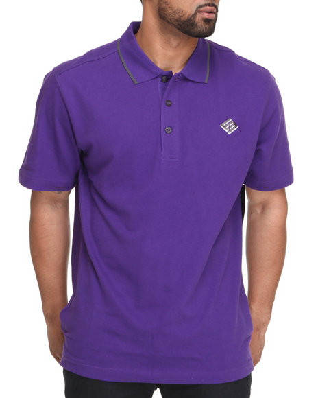 Enyce Men Purple New Reprisal Short Sleeve Polo