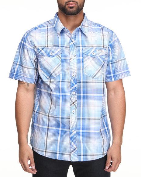 Enyce Men Blue Horizon Short Sleeve Woven