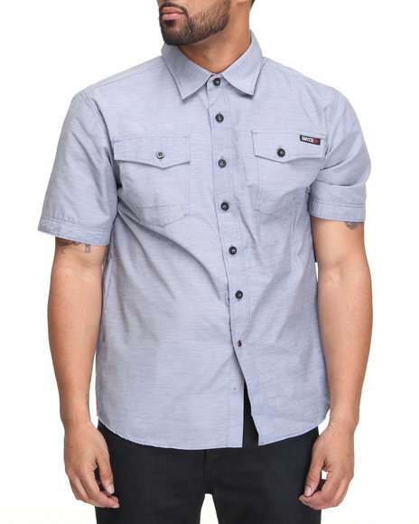 Enyce Men Blue Highway Short Sleeve Woven