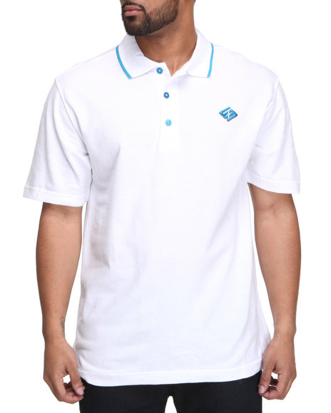 Enyce Men White New Reprisal Short Sleeve Polo