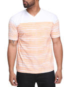 Shirts - Thin Stripe Vneck Tee