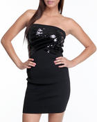 Women - STRAPLESS SEQUIN BANDAGE DRESS
