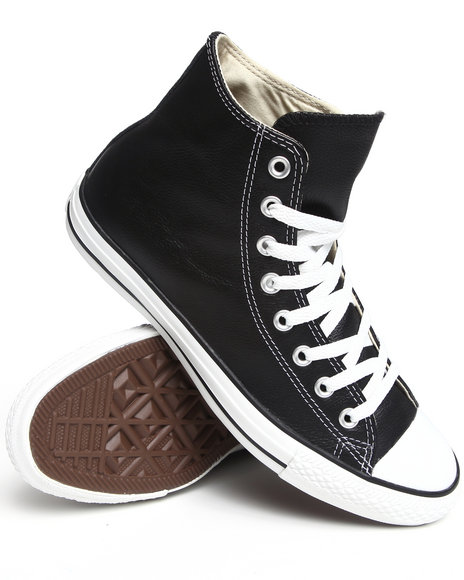 Converse - Men Black Chuck Taylor All Star Leather Sneakers (Unisex)