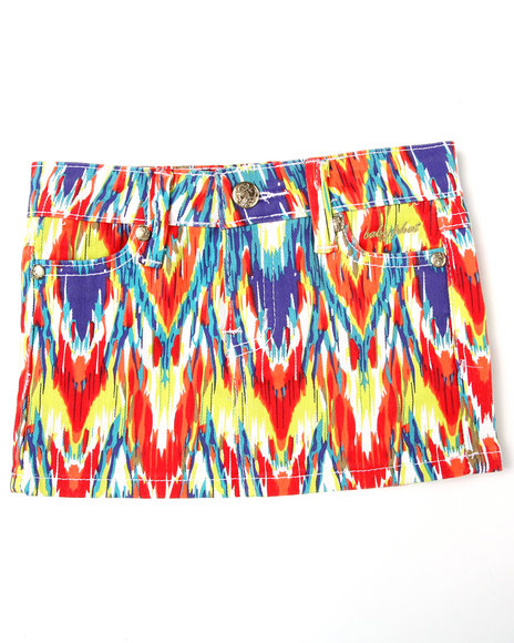 Baby Phat Girls Red Printed Twill Skirt (2T-4T)