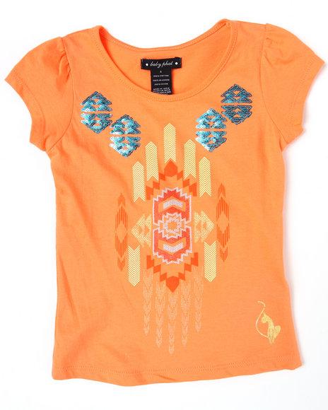 Baby Phat Girls Orange Aztec Tee (4-6X)