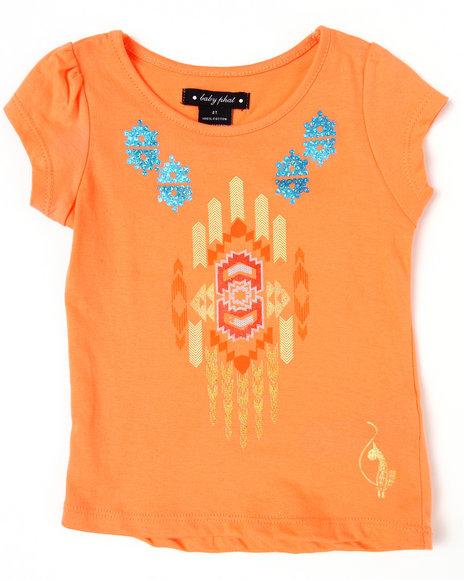 Baby Phat Girls Orange Aztec Tee (2T-4T)
