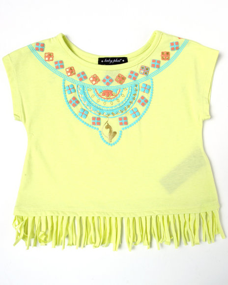 Baby Phat Girls Lime Green Aztec Fringe Top (4-6X)