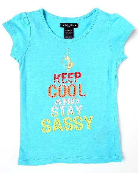 Baby Phat Girls Light Blue Keep Calm & Sassy Tee (4-6X)