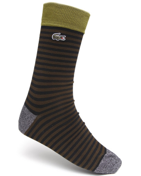 Lacoste Stripe Socks Black