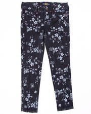 Bottoms - FLORAL PRINTED JEANS (7-16)