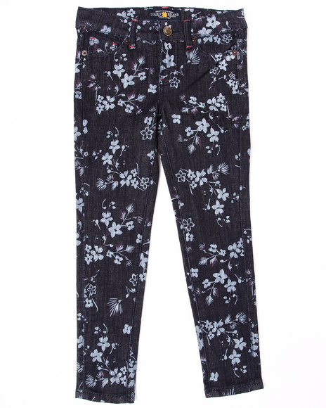 Lucky Brand Girls Navy Floral Printed Jeans (7-16)