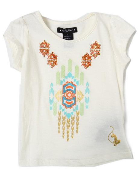 Baby Phat Girls Cream Aztec Tee (4-6X)
