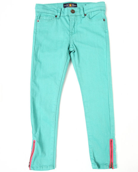 Lucky Brand Girls Green Zoe Skinny Ankle Jeans (7-16)