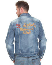 True Religion - 56 Rebels Embroidered Denim Jacket