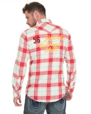 True Religion - 56 Rebels Flannel Shirt w/Embroidered & Patch Detail