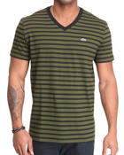 Shirts - S/S V-Neck Striped Tee