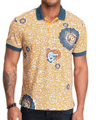 Shirts - L!Ve Tribal Croc Graphic Polo