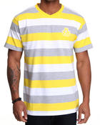 Shirts - Streamline Striped V-neck Tee