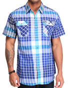 MO7 - Ralphie Double Plaid S/S button down