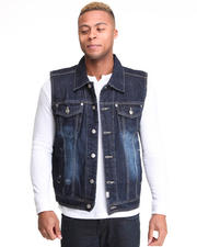 Vests - Bobby Ray Washed Denim Vest