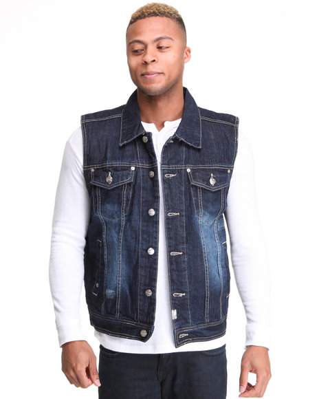 - Bobby Ray Washed Denim Vest