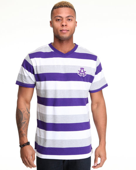 - Streamline Striped V Neck Tee