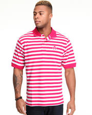 Shirts - Winger Striped Pique Polo