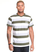 Shirts - Streamline Striped V Neck Tee