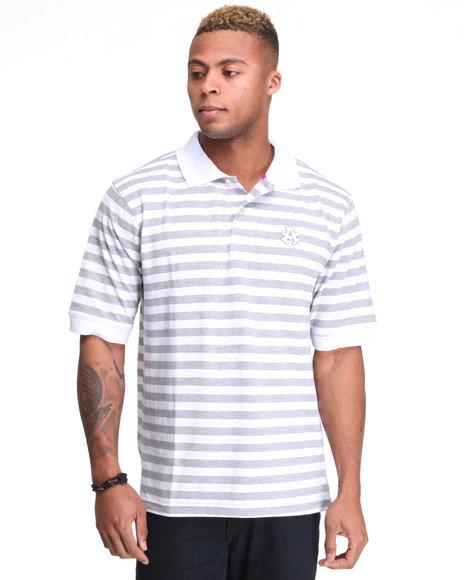 - Winger Striped Pique Polo