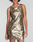 Women - Metallic Jacquard Sheath Dress