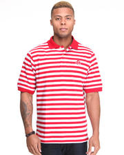 Men - Winger Striped Pique Polo