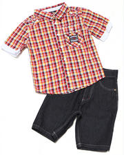4-7x Little Boys - 2pc Ford Woven Short Set (4-7)