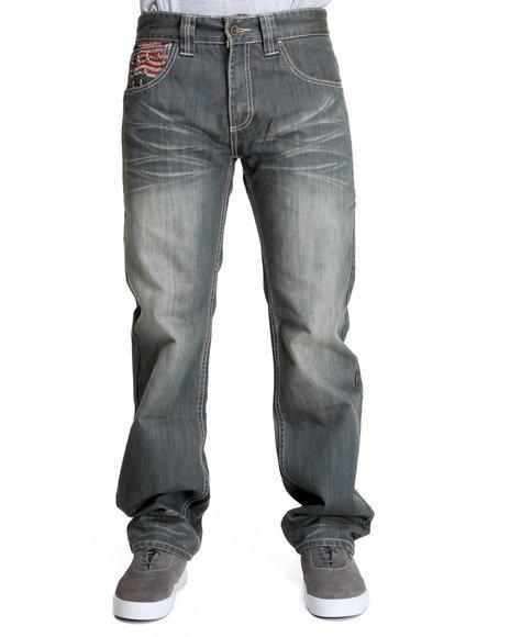 Pelle Pelle by Marc Buchanan Men Indigo Marc Buchanan Flag Denim Jeans