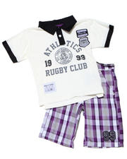 4-7x Little Boys - 2PC CAMERON RUGBY SHORT SET