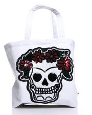 Women - Skull Sequins Tote Bag