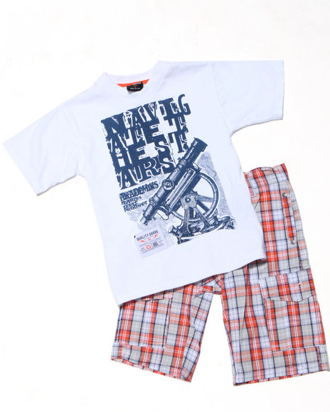 - 2pc Dudley Tee Short Set (4-7)