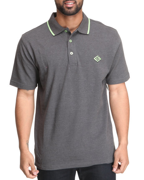 Enyce Men Charcoal Reprisal Solid Polo
