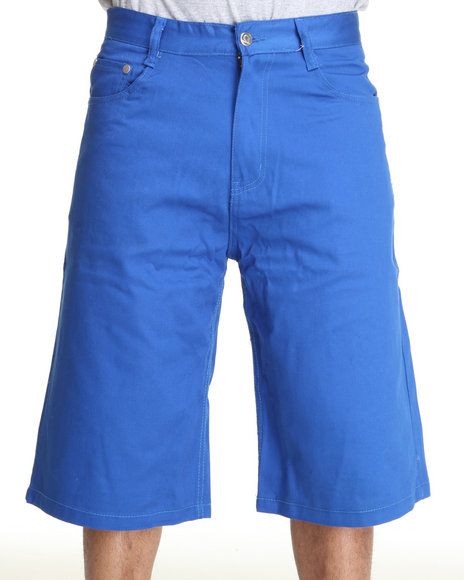 Akademiks Men Blue Steady Colour Twill Shorts