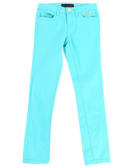 Baby Phat Girls Light Blue Color Twill Jeans (7-16)