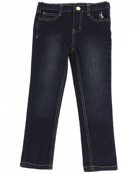 Baby Phat Girls Dark Wash Aztec Embroidered Jeans (4-6X)