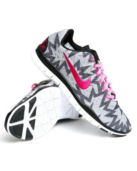 Nike Women Grey Wmns Nike Free Tr 3 Part Sneakers