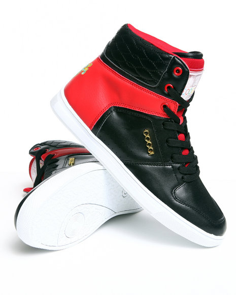 COOGI Women Black,Red Evelyn Midtop Sneaker