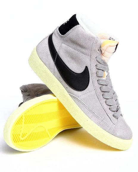 Nike Women Grey Wmns Blazer Mid Suede Vintage Sneakers