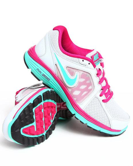 Nike Women Silver,Silver Wmns Nike Dual Fusion Run Sneakers