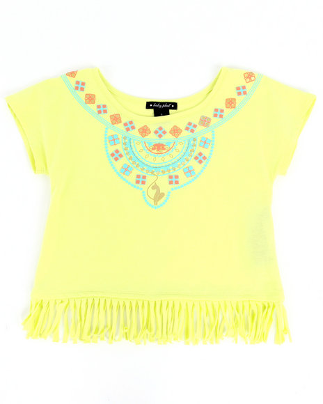 Baby Phat Girls Lime Green Aztec Fringe Top (7-16)