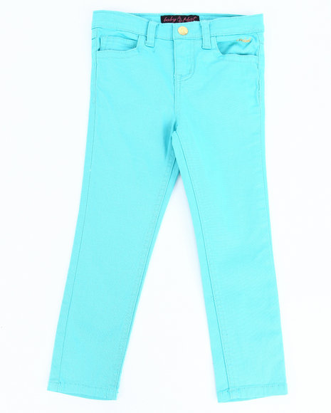 Baby Phat Girls Light Blue Color Twill Jeans (4-6X)