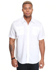 Button-down - Glory Solid Short Sleeve Shirt