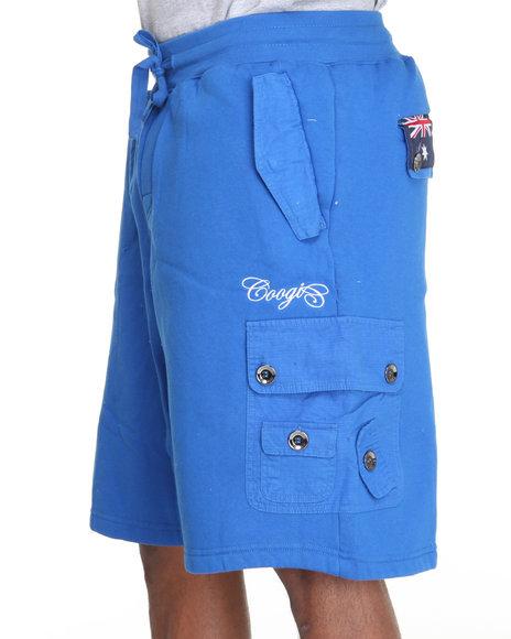 COOGI Men Blue Expedition Fleece Cargo Short