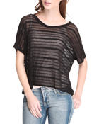 Women - Stripe Knit Top